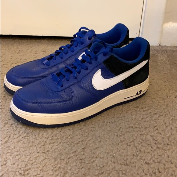 size 40 0eb28 6079a Blue/Black Nike Air Force 1's